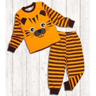 """20-9772 """"Тигр"""" Пижама для мальчика, 3-7 лет, коричневый"""