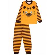 """020-9772 """"Тигр"""" Пижама для мальчика, 3-7 лет, коричневый"""