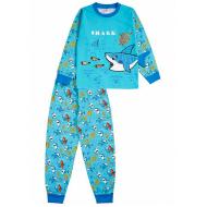 """020-9773 """"Акула"""" Пижама для мальчика, 3-7 лет, голубой"""