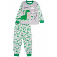 """020-9774 """"Динозавр"""" Пижама для мальчика, 3-7 лет, меланж"""