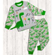 """20-9774 """"Динозавр"""" Пижама для мальчика, 3-7 лет, меланж"""