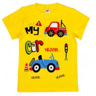 45-140105 Футболка для мальчика, 1-4 года, желтый
