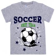 45-480103 Футболка для мальчика, 4-8 лет, меланж