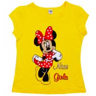 45-480204 Футболка для девочки, 4-8 лет, желтый
