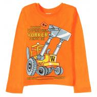 11-141179 Лонгслив для мальчика, 1-4 года, оранжевый