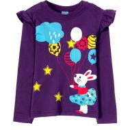 11-141264 Лонгслив для девочки, 1-4 года, фиолетовый
