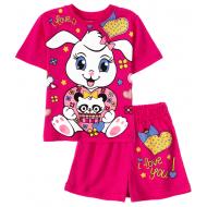 11-142201-4 Комплект для девочки, 1-4 года, малиновый
