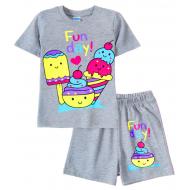 11-142201-5 Комплект для девочки, 1-4 года, меланжевый