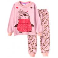 11-148202-1 Пижама для девочки, 1-4 года, розовый