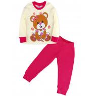 11-148259 Пижама для девочки, 1-4 года, молочный