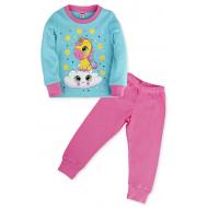 11-148260 Пижама для девочки, 1-4 года, бирюзовый