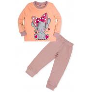 11-148261 Пижама для девочки, 1-4 года, персиковый