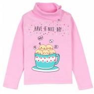 11-251226 Водолазка для девочки, 1-4, розовый