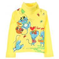 11-251237 Водолазка для девочки, 1-4 года, желтый