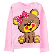 11-251253 Лонгслив для девочек, 1-4 лет, розовый