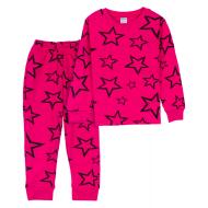 11-378202 Пижама для девочки, интерлок, 3-7 лет, розовый