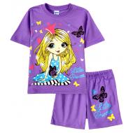 11-482202-3 Комплект для девочки, 4-8 лет, фиолетовый