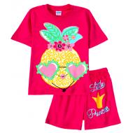 11-482202-4 Комплект для девочки, 4-8 лет, малиновый