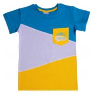11-580129 Футболка для мальчика 5-8 лет, голубой