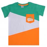 11-580126 Футболка для мальчика 5-8 лет, зеленый
