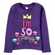 11-581141 Лонгслив для девочки, 5-8 лет, фиолетовый