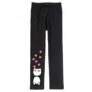 """11-58601-1 """"Panda"""" Лосины для девочек, 5-8 лет, антрацит"""