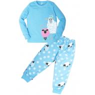 """11-588260 """"Sheep"""" Пижама для девочки, 5-8 лет, голубой"""