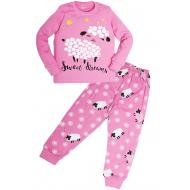 """11-588264 """"Sheep"""" Пижама для девочки, 5-8 лет, розовый"""