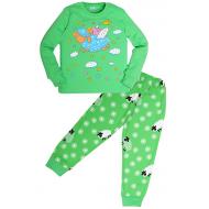 """11-588262 """"Sheep"""" Пижама для девочки, 5-8 лет, зеленый"""