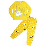 """11-588263 """"Sheep"""" Пижама для девочки, 5-8 лет, желтый"""