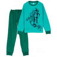 11-9128129 Пижама для мальчика, интерлок, 9-12 лет, изумрудный