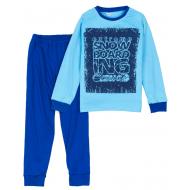 11-9128131 Пижама для мальчика, интерлок, 9-12 лет, синий