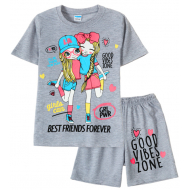 11-582201-6 Комплект для девочки, 5-8 лет, меланж