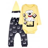 """12-0930-23  """"Puppy"""" Комплект для малышей, 62-74, желтый"""