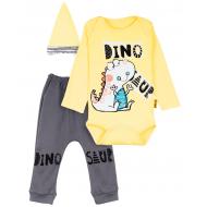"""12-0930-3 """"Dino"""" Комплект для малышей, 62-74, желтый"""