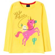 """12-141201-2 """"Лошадка"""" Толстовка для девочки, 1-4 года, желтый"""