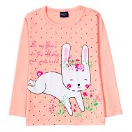 """12-141201-4 """"Bunny"""" Толстовка для девочки, 1-4 года, персиковый"""