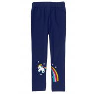 """12-14602-3 """"Пони"""" Лосины для девочки, 1-4 года, т-синий"""
