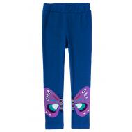 """12-14604-2 """"Бабочки"""" Лосины для девочки, 1-4 года, синий"""