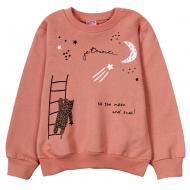 """12-251202-3 """"Звездный мишка"""" Толстовка для девочки, 2-5 лет, св-коричневый"""