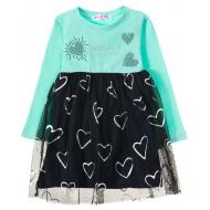 12-26904 Платье для девочки, 2-6 лет, ментол