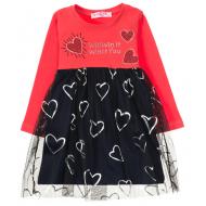12-26902 Платье для девочки, 2-6 лет, красный
