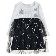 12-26903 Платье для девочки, 2-6 лет, серый