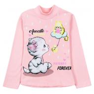 "12-281201-1 ""Friend's"" Водолазка для девочки, 2-8 лет, розовый"