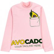 """12-281202-1 """"Avocado"""" Водолазка для девочки, 2-8 лет, розовый"""