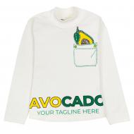 """12-281202-4 """"Avocado"""" Водолазка для девочки, 2-8 лет, молочный"""