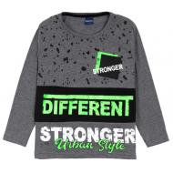 """12-370101-1 """"Different"""" Лонгслив для мальчика, 3-7 лет, т-серый"""