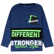 """12-370101-3 """"Different"""" Лонгслив для мальчика, 3-7 лет, т-синий"""