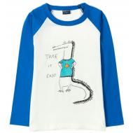 12-370102-4 Лонгслив для мальчика, 3-7 лет, синий