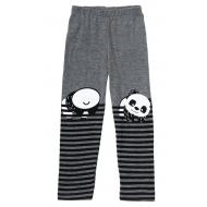 """12-37602-5 """"Panda"""" Лосины для девочки, 3-7 лет, серый"""